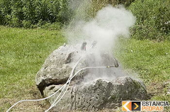 Demolição de rochas e pedras em Estiva com pyroblast