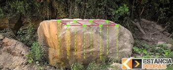 Desmonte de pedras em Santa Bárbara do Monte Verde com massa expansiva