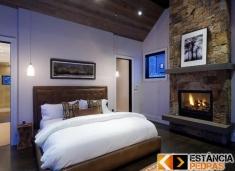 Quarto Dormitório Modelo Revestido com Pedra